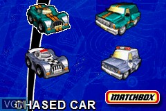 Image du menu du jeu 2-in-1 - Matchbox Missions sur Nintendo GameBoy Advance