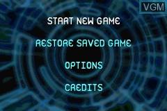 Image du menu du jeu Ace Lightning sur Nintendo GameBoy Advance