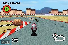 Image in-game du jeu XS Moto sur Nintendo GameBoy Advance
