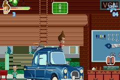 Image in-game du jeu Adventures of Jimmy Neutron Boy Genius, The - Attack of the Twonkies sur Nintendo GameBoy Advance