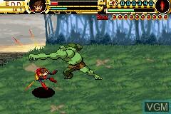 Image in-game du jeu Advance Guardian Heroes sur Nintendo GameBoy Advance