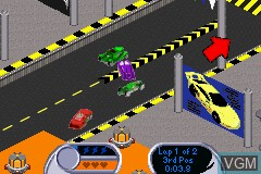 Image in-game du jeu 2-in-1 - Hot Wheels - Velocity X & Hot Wheels - World Race sur Nintendo GameBoy Advance