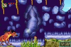 Image in-game du jeu 2 Games in 1 - Disney's Koenig der Loewen & Disney's Prinzessinnen sur Nintendo GameBoy Advance