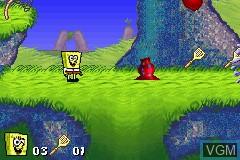 Image in-game du jeu 2 Games in 1 - SpongeBob SquarePants - SuperSponge & Revenge of the Flying Dutchman sur Nintendo GameBoy Advance