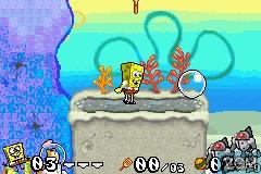 Image in-game du jeu 2 Games in 1 - SpongeBob SquarePants - SuperSponge & Battle for Bikini Bottom sur Nintendo GameBoy Advance