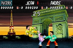 Image in-game du jeu International Karate Advanced sur Nintendo GameBoy Advance