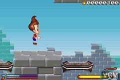 Image in-game du jeu 2 Games in 1 - SpongeBob SquarePants - Battle for Bikini Bottom & Jimmy Neutron - Boy Genius sur Nintendo GameBoy Advance