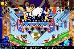 Image in-game du jeu 2-in-1 - Sonic Gamepack - Sonic Pinball Party & Sonic Battle sur Nintendo GameBoy Advance