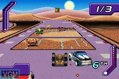 Image in-game du jeu 2-in-1 - Hot Wheels - Stunt Track Challenge & Hot Wheels - World Race sur Nintendo GameBoy Advance