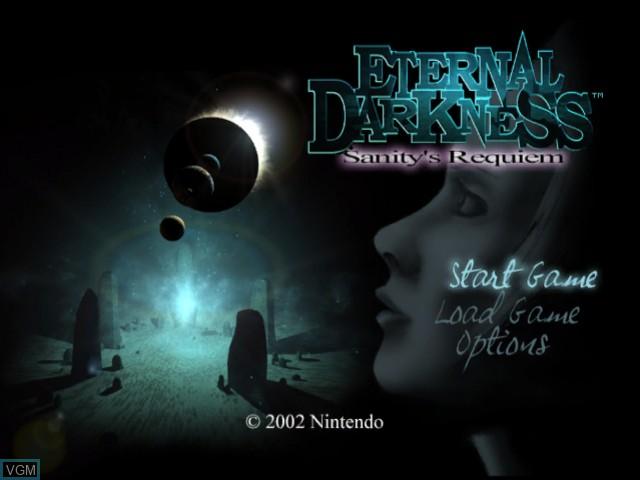 Image de l'ecran titre du jeu Eternal Darkness - Sanity's Requiem sur Nintendo GameCube