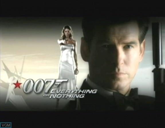 Image de l'ecran titre du jeu 007 - Everything or Nothing sur Nintendo GameCube