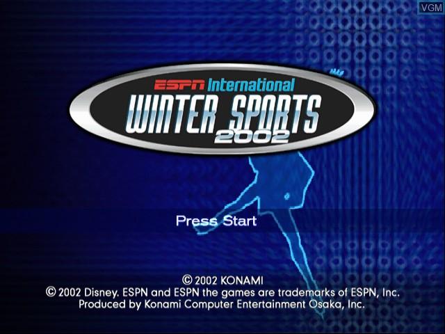 Image de l'ecran titre du jeu ESPN International Winter Sports 2002 sur Nintendo GameCube