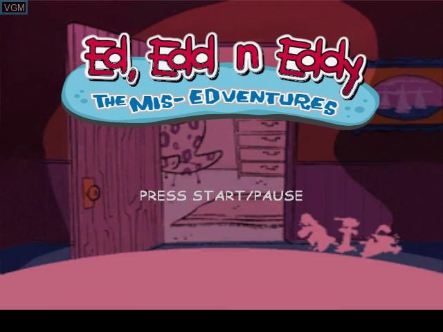 Image de l'ecran titre du jeu Ed, Edd n Eddy - The Mis-Edventures sur Nintendo GameCube