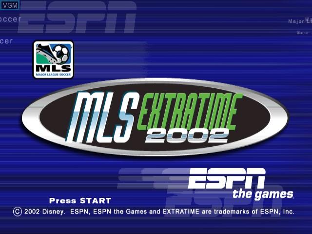 Image de l'ecran titre du jeu ESPN MLS ExtraTime 2002 sur Nintendo GameCube