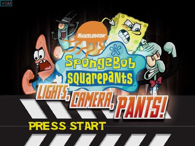 Image de l'ecran titre du jeu SpongeBob Squarepants - Licht uit, Camera aan! sur Nintendo GameCube