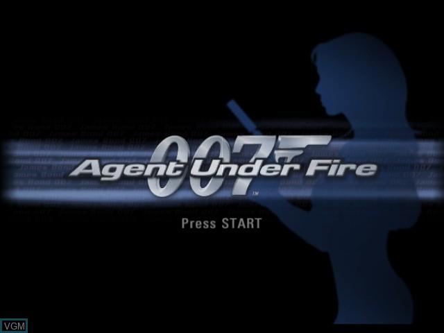 Image de l'ecran titre du jeu 007 - Agent Under Fire sur Nintendo GameCube