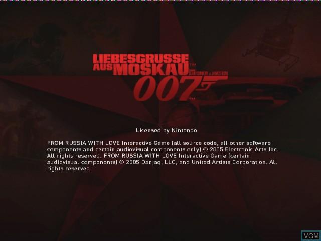 Image de l'ecran titre du jeu 007 - Liebesgruesse aus Moskau sur Nintendo GameCube
