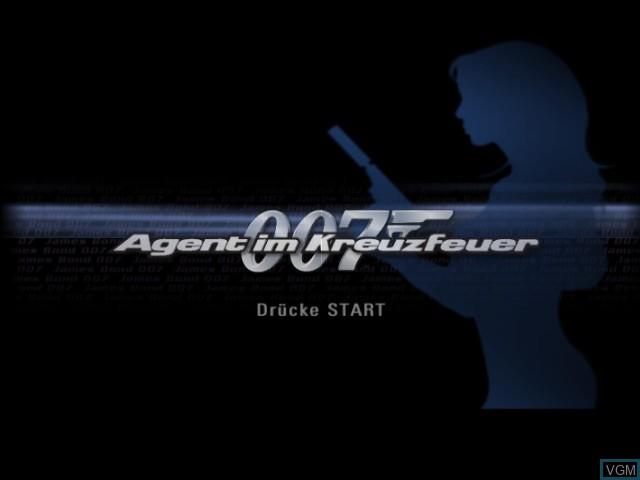 Image de l'ecran titre du jeu 007 - Agent im Kreuzfeuer sur Nintendo GameCube