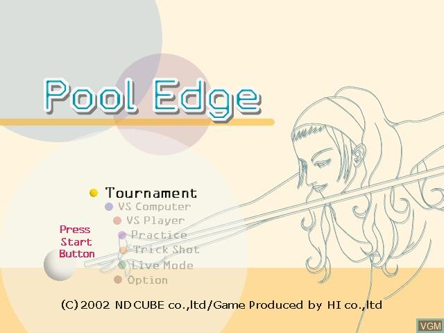 Image de l'ecran titre du jeu Pool Edge sur Nintendo GameCube