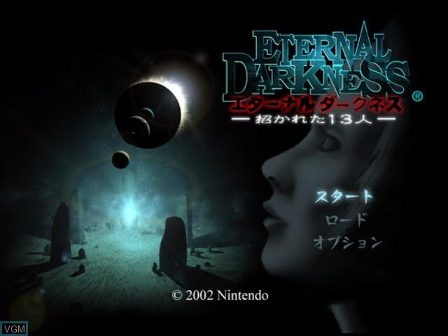 Image de l'ecran titre du jeu Eternal Darkness - Manekareta 13-nin sur Nintendo GameCube