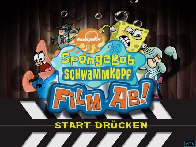 Image de l'ecran titre du jeu SpongeBob Schwammkopf - Film ab! sur Nintendo GameCube