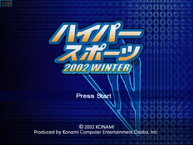 Image de l'ecran titre du jeu Hyper Sports 2002 Winter sur Nintendo GameCube