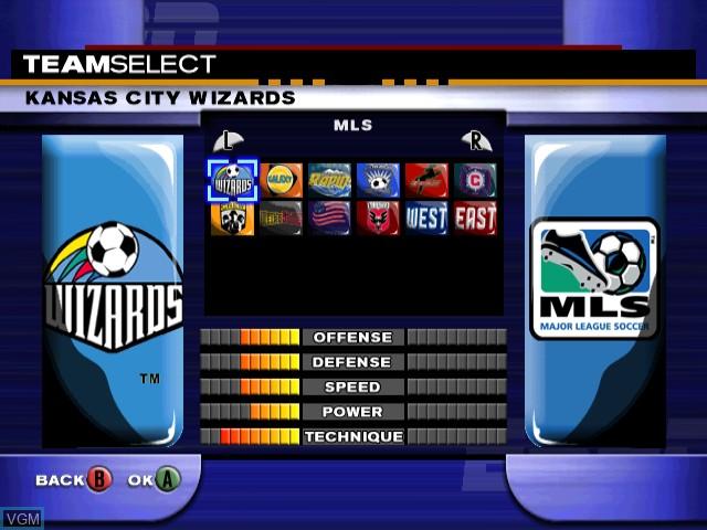 Image du menu du jeu ESPN MLS ExtraTime 2002 sur Nintendo GameCube