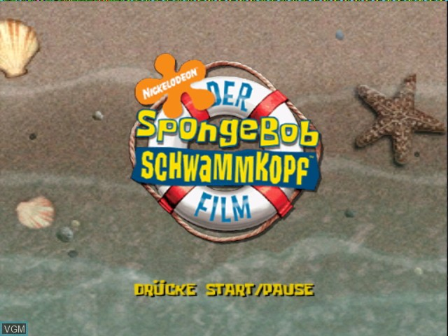 Image du menu du jeu 2 Games in 1 - Nickelodeon SpongeBob Schwammkopf - Der Film + Nickelodeon SpongeBob Schwammkopf - Schlacht um Bikini Bottom sur Nintendo GameCube