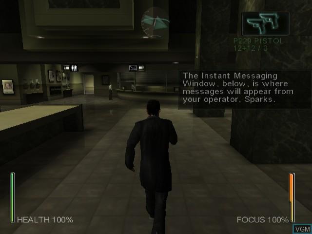 Image du menu du jeu Enter the Matrix sur Nintendo GameCube
