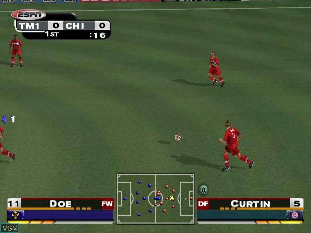 Image in-game du jeu ESPN MLS ExtraTime 2002 sur Nintendo GameCube