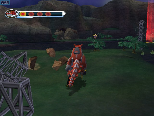 Image in-game du jeu Power Rangers - Dino Thunder sur Nintendo GameCube