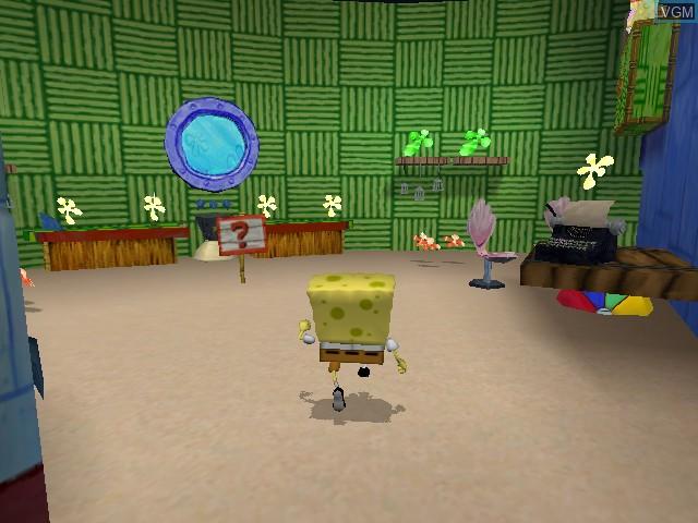 Image in-game du jeu 2 Games in 1 - Nickelodeon SpongeBob Schwammkopf - Der Film + Nickelodeon SpongeBob Schwammkopf - Schlacht um Bikini Bottom sur Nintendo GameCube