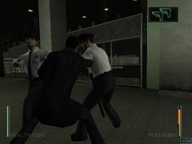 Image in-game du jeu Enter the Matrix sur Nintendo GameCube