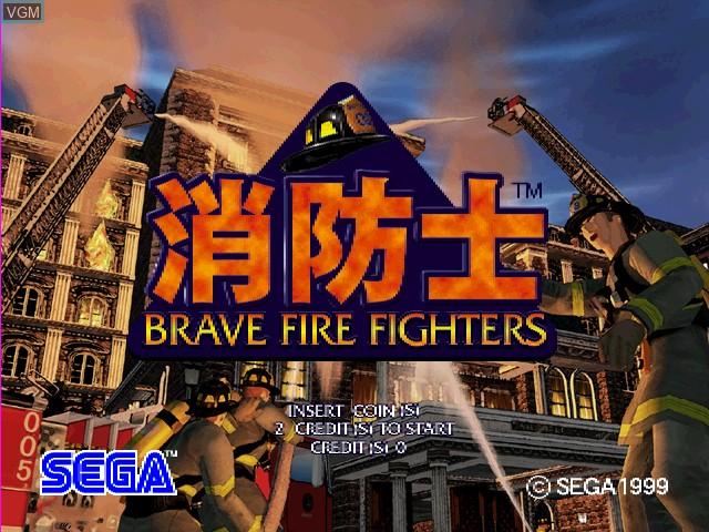 Image de l'ecran titre du jeu Brave Fire Fighters sur Sega Hikaru