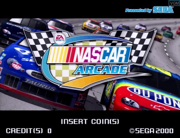 Image de l'ecran titre du jeu Nascar Racing sur Sega Hikaru