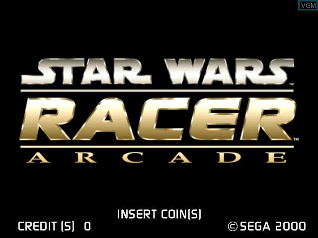 Image de l'ecran titre du jeu Star Wars Racer Arcade sur Sega Hikaru
