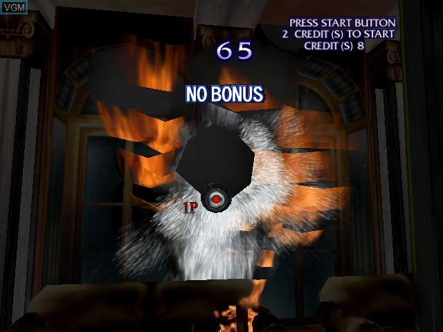 Image in-game du jeu Brave Fire Fighters sur Sega Hikaru