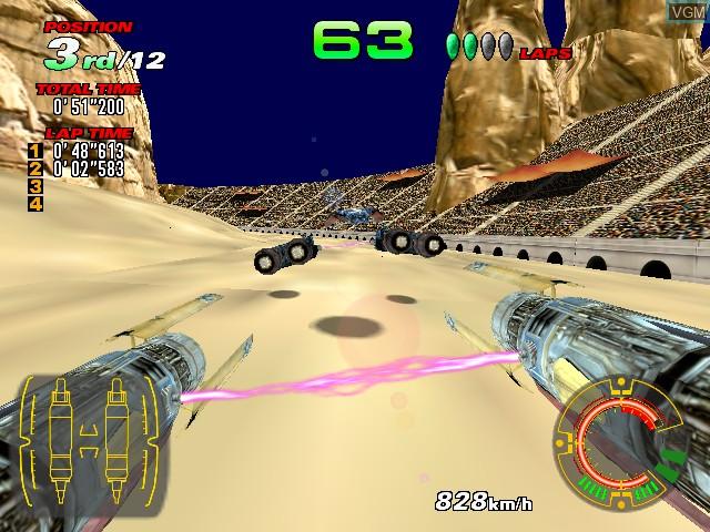Image in-game du jeu Star Wars Racer Arcade sur Sega Hikaru