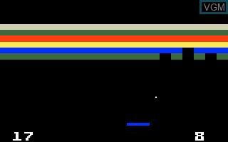 Image in-game du jeu Brickout! sur Mattel Intellivision
