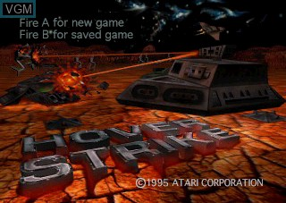 Image de l'ecran titre du jeu Hover Strike sur Atari Jaguar