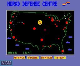 Image in-game du jeu Defcon sur MSX2 Disk