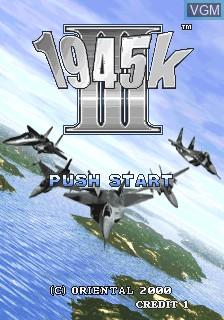 Image de l'ecran titre du jeu 1945k III sur MAME