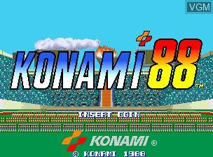 Image de l'ecran titre du jeu Konami '88 sur MAME