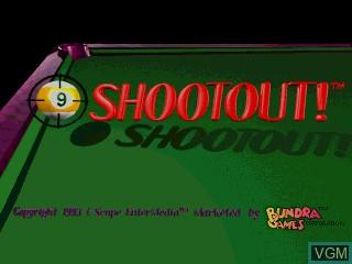 Image de l'ecran titre du jeu 9-Ball Shootout! sur MAME
