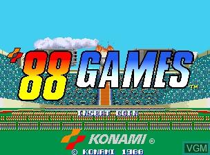 Image de l'ecran titre du jeu '88 Games sur MAME