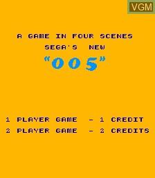 Image de l'ecran titre du jeu 5 sur MAME