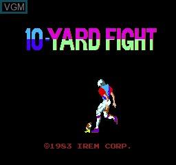 Image de l'ecran titre du jeu 10 Yard Fight sur MAME