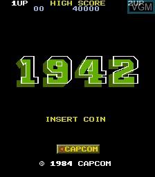 Image de l'ecran titre du jeu 1942 sur MAME