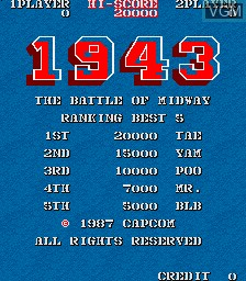 Image de l'ecran titre du jeu 1943 - The Battle of Midway sur MAME