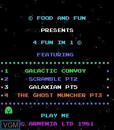 Image de l'ecran titre du jeu 4 Fun in 1 sur MAME